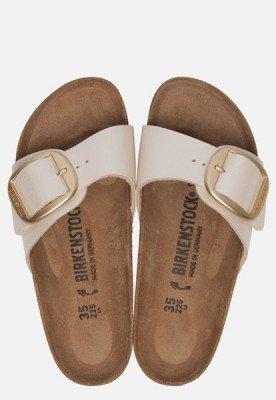 Birkenstock Birkenstock Madrid Big Buckle slippers wit