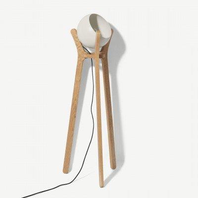 MADE.COM Sputnik Floor Lamp, White & Wood