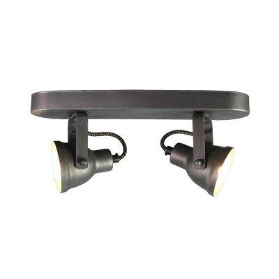 LABEL51 LABEL51 LED Spot 'Max' 2-lichts, kleur Burned Steel