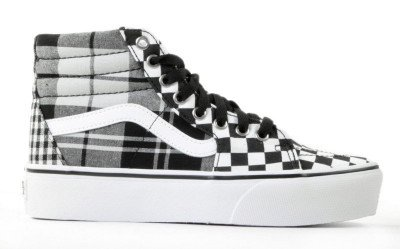 Vans Vans Plaid Checkerboard Sk8-Hi 2.0 Platform VN0A3TKNVYD Damessneakers