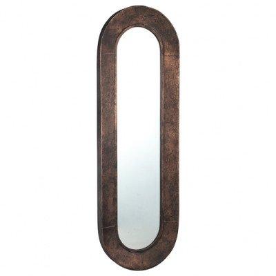 Firawonen.nl PTMD darcio copper metalen spiegel ovaal lang