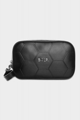 BALR. Hexagon AOP Embossed Leather Toiletry Kit