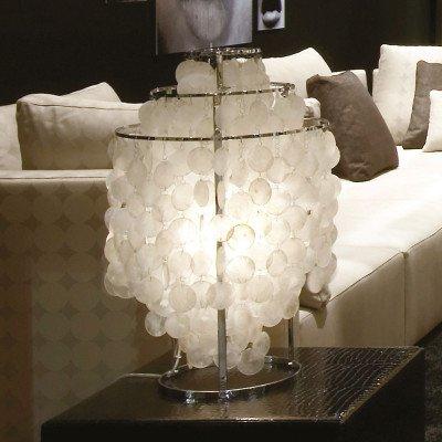 Verpan VERPAN Fun 2TM - parelmoer-tafellamp, chroom