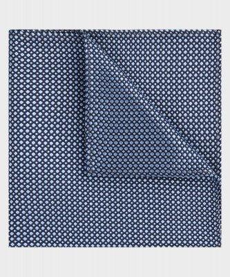 Michaelis Michaelis heren zijden pochet blauw