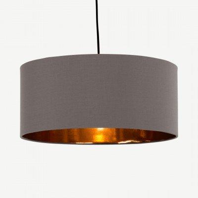 MADE.COM Oro hanglampenkap, grijs en koper