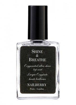 Nailberry Nailberry Shine & Breathe - nagellak glanzende topcoat