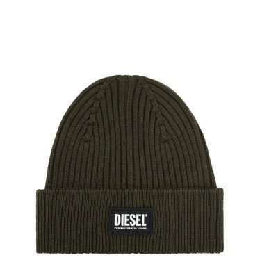 Diesel Rib-knit hat with logo