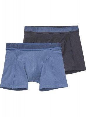 HEMA 2-pak Herenboxers Met Bamboe Donkerblauw (donkerblauw)
