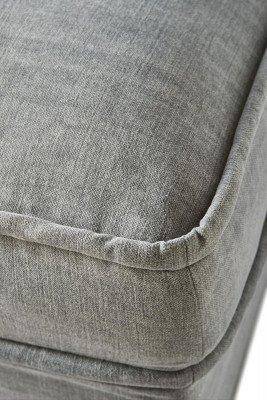 Rivièra Maison Rivièra Maison Hocker 'Metropolis' Cotton, kleur Grey
