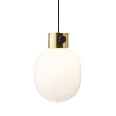 Menu Menu JWDA hanglamp van messing en opaalglas