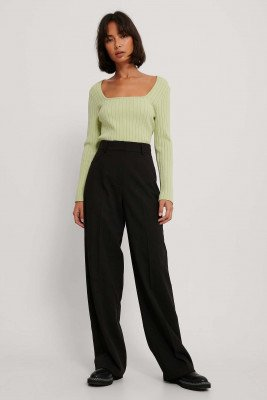 NA-KD Trend NA-KD Trend Pantalon Met Wijde Pijpen - Black