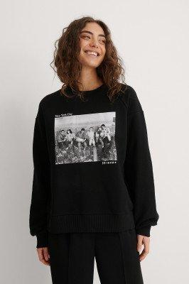 Warner Bros. Warner Bros. Sweater Met Ronde Hals Ballonmouwen - Black