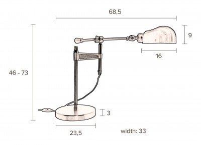 Dutchbone Dutchbone Tafellamp 'Lily' 46cm
