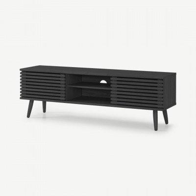 MADE.COM Tulma breed TV-meubel, zwart houteffect