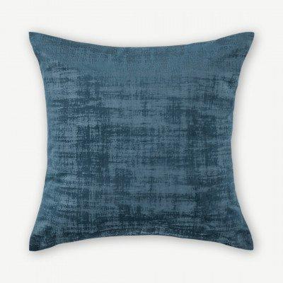 MADE.COM Tabitha set van 2 fluwelen kussens, 45 x 45cm, middernachtblauw