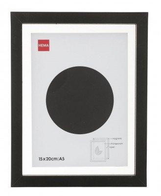 HEMA HEMA Fotolijst Hout 15x20 - Zwart - Magnetisch
