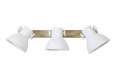 Light en Living Light & Living Hanglamp 'Elay' 3-Lamps, hout naturel+wit
