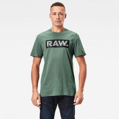 G-Star RAW Reinforced Reflective Raw. Logo T-Shirt - Groen - Heren