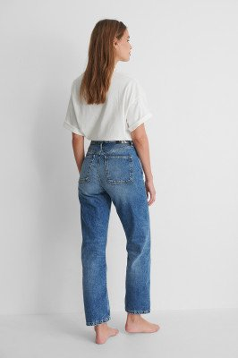 Calvin Klein Calvin Klein Rechte High Waist Jeans - Blue