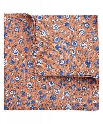 Profuomo Profuomo heren oranje bloemenprint pochet