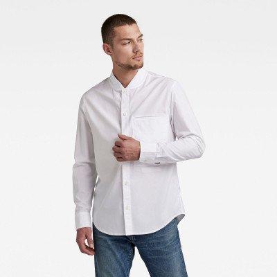 G-Star RAW Regular Shirt Bomber Collar - Wit - Heren