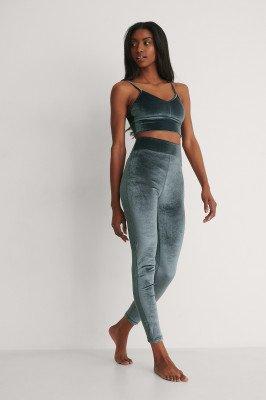 NA-KD Flow NA-KD Flow Velvet Legging - Grey