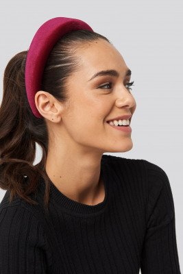 NA-KD Accessories NA-KD Accessories Puff Velvet Hairband - Red