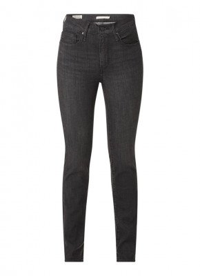 Levi's Levi's 724 high waist straight fit jeans met donkere wassing