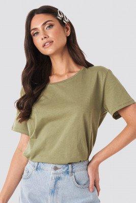 NA-KD Basic Basic Oversized T-Shirt - Green