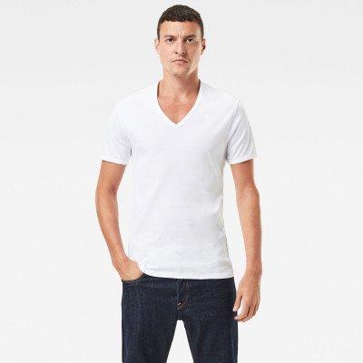 G-Star RAW Basic V-Neck T-Shirt 2-Pack - Wit - Heren