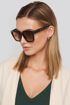 NA-KD Accessories NA-KD Accessories Squared Oversized Sunglasses - Brown