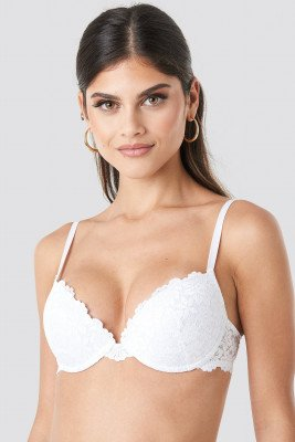 NA-KD Lingerie Lace Padded Cup Bra - White