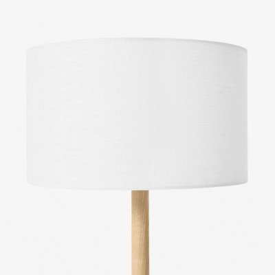 MADE.COM Brisa lampenkap van 100% linnen, 30 cm, wit