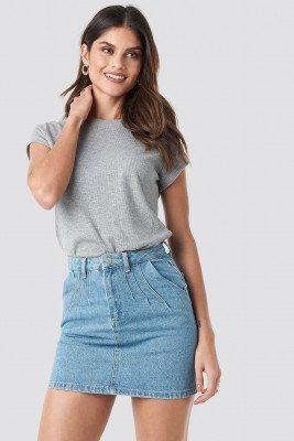 Trendyol Trendyol Stitch Detail Mini Denim Skirt - Blue