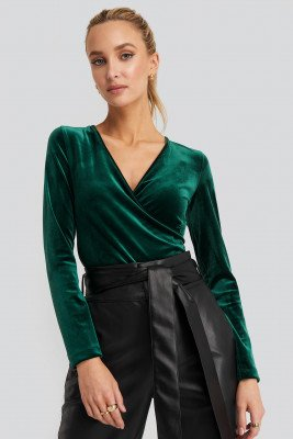 Trendyol Trendyol Double Breasted Collar Knitted Blouse - Green