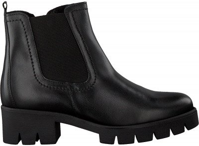 Gabor Zwarte Gabor Chelsea Boots 51.710.2