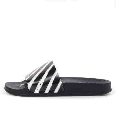 Off-White Off-White Spray Stripes Slides Black White (2019)