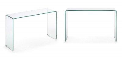 Kave Home Kave Home Glazen Sidetable 'Burano', 125 x 40 cm
