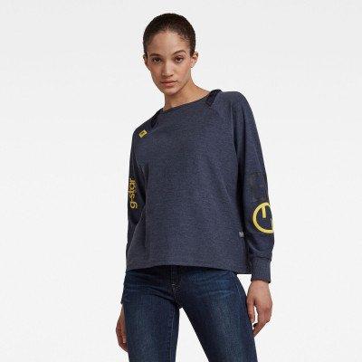 G-Star RAW Sleeve Print Tweater - Midden blauw - Dames