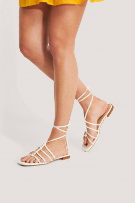NA-KD Shoes Sandalen - Offwhite