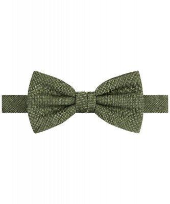 Profuomo Profuomo heren groene katoen-blend strik
