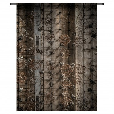 Urban Cotton Urban Cotton Wandkleed 'Hanging Baskets', 190 x 145cm