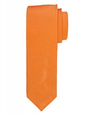 Profuomo Profuomo heren oranje uni zijden stropdas