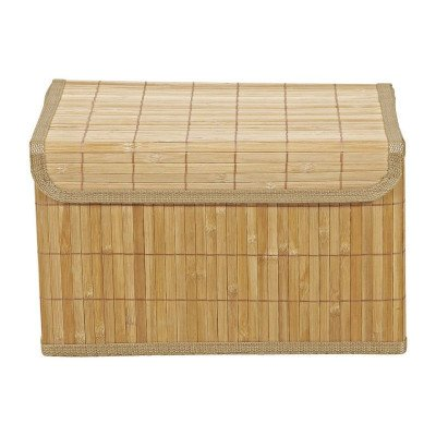 Xenos Opbergmand bamboe latjes - 26x37x22 cm