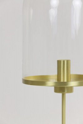 Light en Living Light & Living Tafellamp 'Maverick' 65cm, goud+helder glas