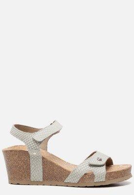 Panama Jack Panama Jack Julia Snake B804 sandalen met sleehak grijs