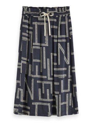 Maison Scotch Maison Scotch Midi viscose skirt with allover pri