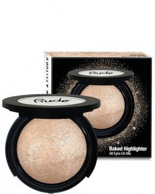 Rude Cosmetics Rude Cosmetics Baked Shimmer All Eyes On Me Rude Cosmetics - RUDE COSMETICS Highlighter