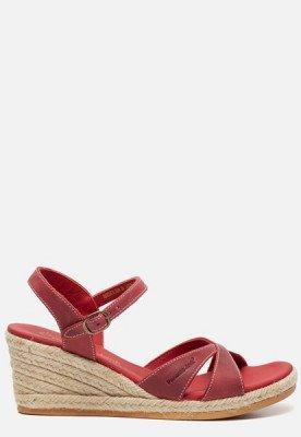 Panama Jack Panama Jack Benisa B806 sandalen met sleehak rood