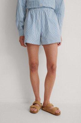 NA-KD NA-KD Short Met Elastische Taille - Blue